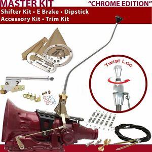 C4 Shifter Kit 23 Swan E Brake Cable Clamp Trim Kit Dipstick For F7204