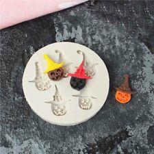 Halloween Pumpkin Silicone Fondant Cake Mold Chocolate Baking Mould Decor Topper
