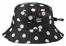 Kozi Kidz Regnhatt Black Dots Rain Hat Small (1-3 Years) BNWT!!