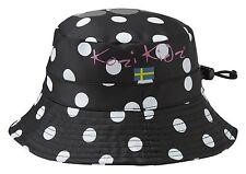 Kozi Kidz Regnhatt Black Dots Rain Hat Small (1-3 Years) BNWT!!