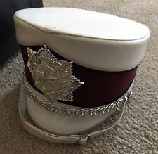 Fruhauf Uniform -Marching Band Hat w/Case #158 Shawnee Indians Helmet 7 3/4