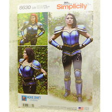 Simplicity 8630 Cosplay Armor Corset Gauntlet Costume Sewing Pattern 16-24 NEW!