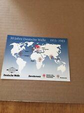 QSL Radio Deutsche Welle Köln Cologne Germany 1983  30 Anniversary DX