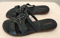 Azaleia  Womens Size 7 M Slide Sandals Blue Leather