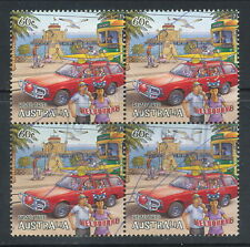 """Australian Stamps: 2012 Road Trip """"Melbourne"""" Block of 4 - Cancelled with a Biro"""