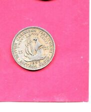 BRITISH EAST CARIBBEAN STATES KM6 1955 VF-VERY FINE-NICE OLD  25 CENTS COIN