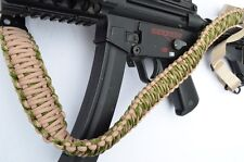 Tactical 550 Paracord Rifle Gun Shotgun Paintball 2 Point Sling (Tan / Camo)