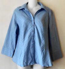 Sag Harbor blouse sz 14 blue