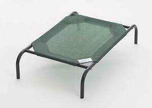 Large Dog Bed Elevated Raised Pet Cot Indoor Outdoor Steel Frame Knitted Fabric