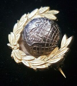 British Army ROYAL MARINES Officer's Gilt & Silver Coloured Lapel Badge