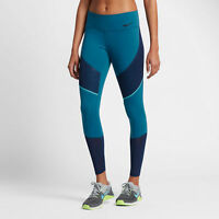 Nike Women's Power Legendary Tight Fit Athletic Tights Blue Size M Medium 874712