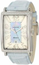 Gevril Women's 6207NT Glamour Automatic ETA 2892 DIAMOND Blue Leather Watch