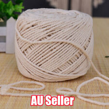 5mm Macrame Rope Natural Beige Cotton Twisted Cord Artisan Hand Craft 65M