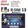 HEICARD UNLOCK Chip for iPhone X XS 8 7 6S Unlocking Sim Card ICCIDIOS 13.5.1