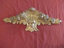 Ancien très beau fronton en bois doré de style Louis XV ameublement