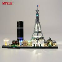 LED Light Up Kit For LEGO Architecture Paris 21044 Lighting Set Building Kit