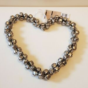 New Silver Bell Heart Hanging Decorations #2 Shabby Chic Home Decor Decoration