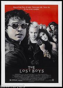 The Lost Boys 1987 Canvas Movie Poster Wall Art Film Print Vampire Horror Film