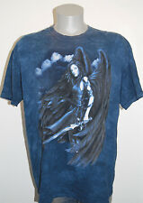Dark Angel t shirt XL fallen warrior blue mens winged tie dye fantasy fairy