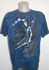 Dark Angel t shirt XL fallen warrior blue mens winged tie dye fantasy fairy tye