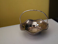 SMALL GRENADIER SILVER PLATE BASKET WITH FLUTED SIDES