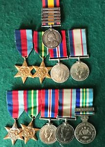 A Boer War to WW2 family set of medals. Father Boer War and WW2. Two sons WW2