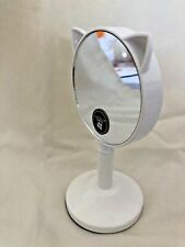 """New Mirror, Stand 5 3/4"""" And 4 X Magnification Mirror Decorative Cat Ears White"""