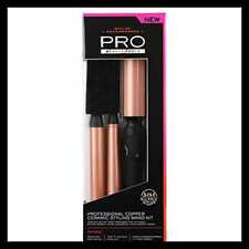 Pro Beauty Tools Professional 3-N-1 Copper Ceramic Styling Wand Kit Fast Heat Up