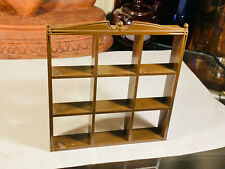 Dollhouse Vintage Miniature Furniture Burwood Product 3323 Brown Library Shelves