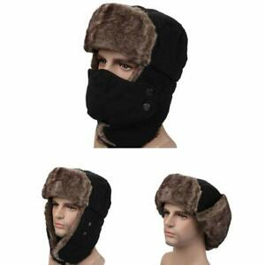 Trooper Trapper Hat Winter Windproof Ski Hat with Ear Flaps Warm Hunting Hats