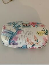 Contact Lens Flowery Travel Case. Brand New