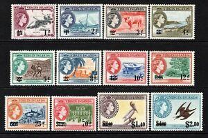 British Virgin Islands QE2  1962 Surch Set SG162-173 MNH