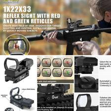 Reflex Sight AR15 With 20mm Rail Red Green Dot Gun Scope Wrench Adjust Elevation