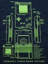 """Compact Video Game System"" Boy Classic Blueprint Men's XXL Shirt Shirtpunch"