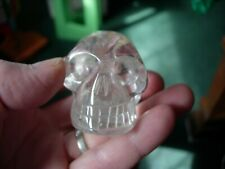 Crystal skull water clear 100% genuine with golden healer no 2