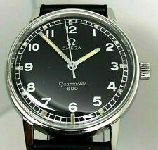 OMEGA SEAMASTER 600, CAL 601 17 JEW MANUAL WINDING, VTG 1969, BLACK DIAL, WATCH