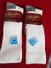 2 Pair Wrangler Ultra Dri Over the Calf  Boot Sock Large 9-13 USA