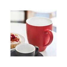 BEVANDE RED 400ml COFFEE TEA MUG (6-PACK) BRAND-NEW COMMERCIAL-QUALITY