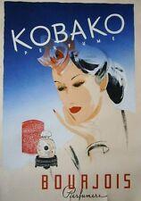 KOBAKO Perfume - BOUAJOIS Perfumers Vintage Poster signed C. Flynn