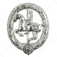 WW2 German Horsemans Badge - Silver Repro Horse Rider Cavalry Military Army New
