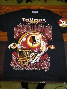 Vintage Washington Redskins T Shirt Thumbs Up Mike Utley Single Stitch USA MADE
