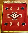 """Large 25""""X23"""" Chimayo Pillow Cover VIBRANT COLORS Or Remove As Rug, Hanging Etc"""