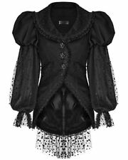 Polyester Spotted Plus Size Button Coats & Jackets for Women