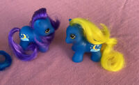 G1 Style Pony Custom Hqg1c - Moon Twins - PFF - Teeny Itty Bitty Tiny