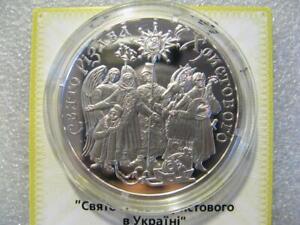 CHRISTMAS HOLIDAYS, Ukraine 10 Hryvnia UAH 2002 Proof Silver 1 Oz, Rare, KM# 164