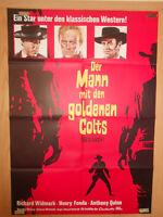 Warlock Der Mann mit dem goldenen Colts Henry Fonda Filmplakat 60x80cm gefaltet