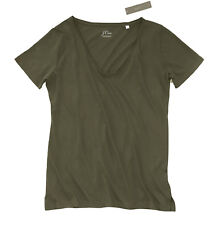 J.CREW Black Short Sleeve V-neck Supima Cotton Tee Style J1496 Womens XXL