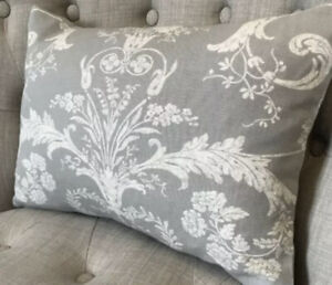 "11.5x17.5""  Cushion Cover Laura Ashley Josette Steel/Austen Steel Fabric"