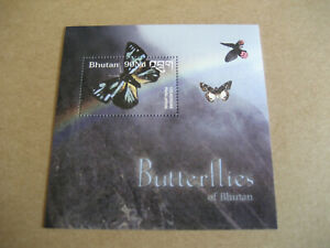 BHUTAN    BUTTERFLIES   OF BHUTAN  SOUVENIR SHEET