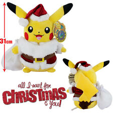 Pokemon Pikachu Santa Christmas Dress Stuffed Doll Top Sold So Cute
